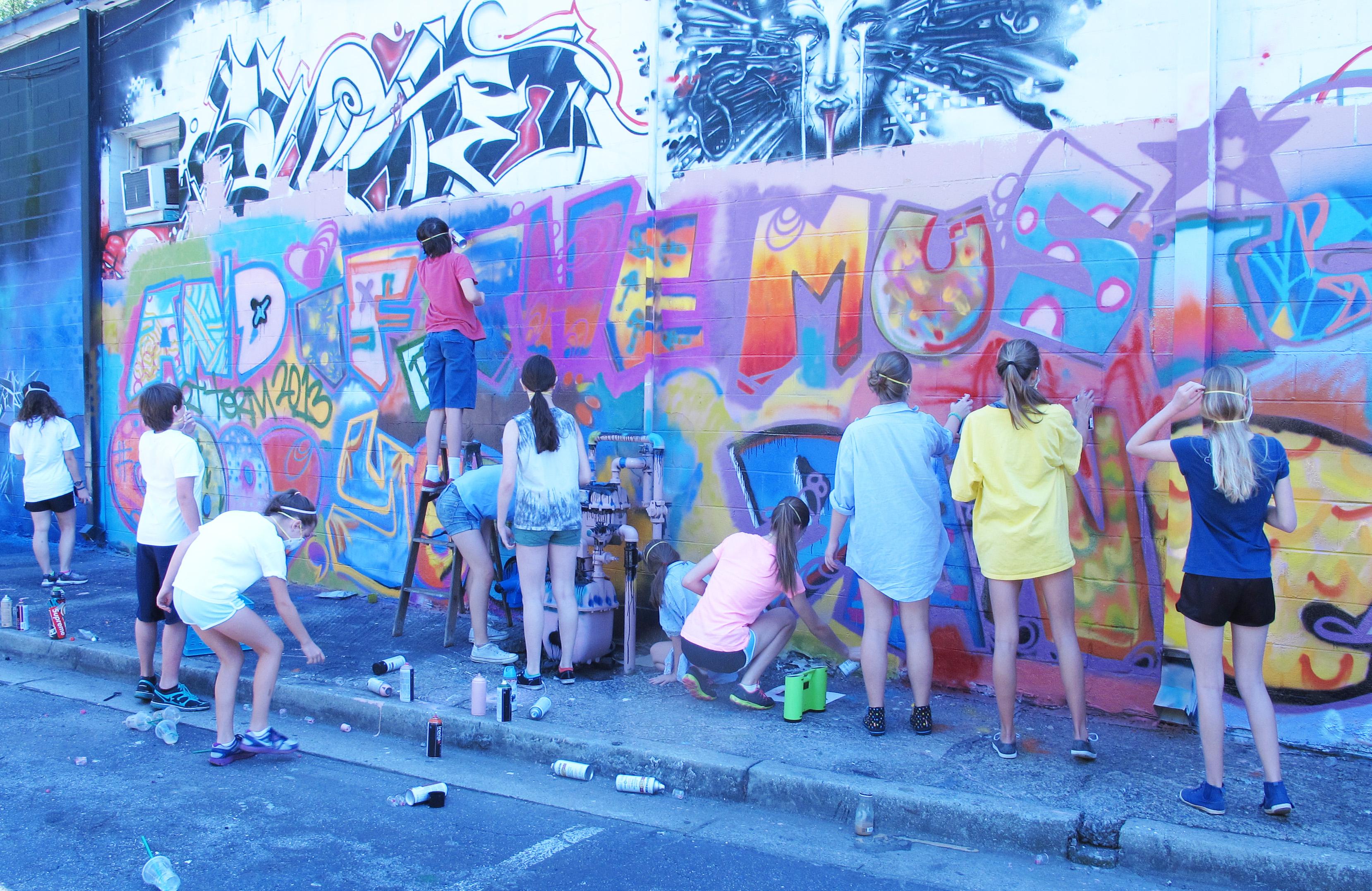 Graffiti wall painting - Kids Painting Wall