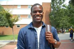 "Ryan Marcus, 21, Economics, Marketing and Professional Sales minor - ""I would have to say if Dr. Martin Luther King Jr. were alive today he would say that we came a long way from racism since the 1960s, but theres still a lot of work to be done with the new laws especially in the state of North Carolina with the whole voter ID and having to show proof that you're an actually a citizen. It's a civil right and its everyones right to vote. I really feel like some of the regulations and telling people that you need this type of paperwork to vote is unnecessary, knowing that's targeted at the Black community. So I just feel like we still have a lot of work to do. but racism still exists."""