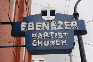 Original Ebenezer Baptist Church Marquee