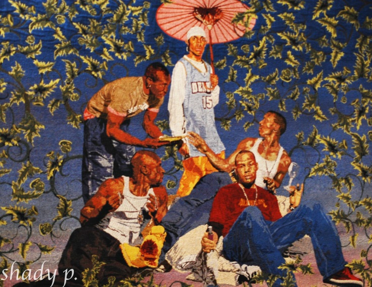 The Gypsy Fortune Teller By Kehinde Wiley, 2007, Tapestry (woven in Belgium), 76 in X 102 in