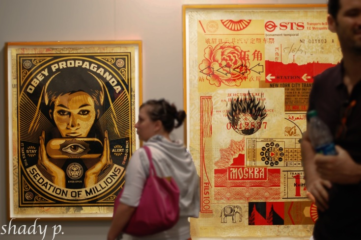 works by Shepard Fairey, Pace Prints Gallery