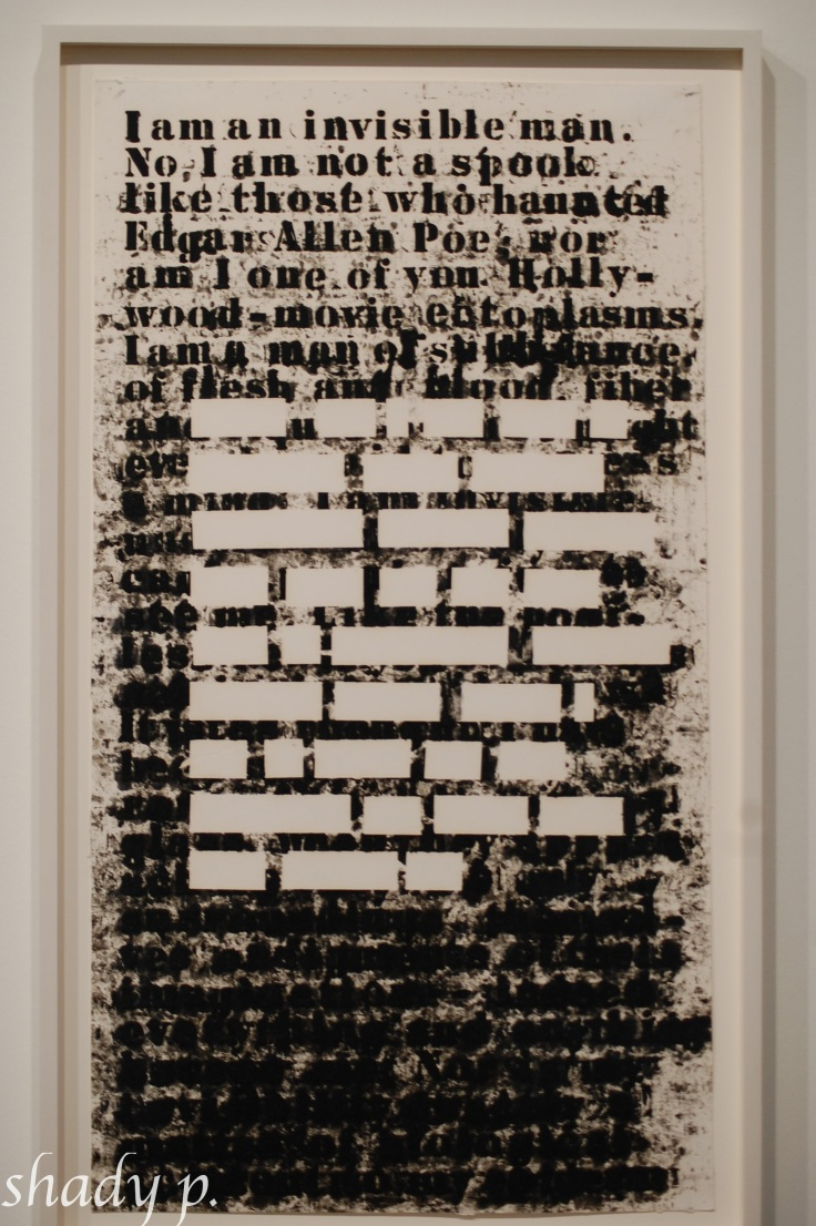 Untitled (I am an Invisible Man) by Glenn Ligon, 1991